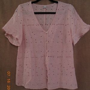 OLD NAVY PINK CROP TOP - LIKE NEW-  NEVER WORN